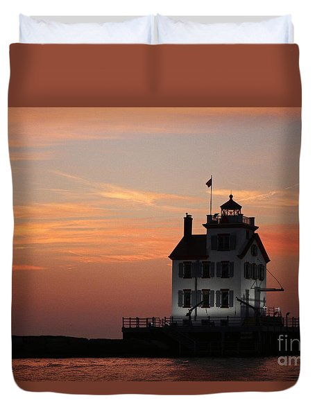 Evening Lighthouse 5 Duvet Cover