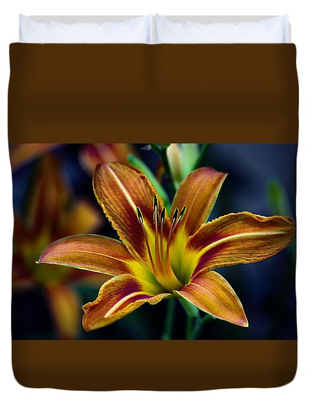 Evening Lily Duvet Cover