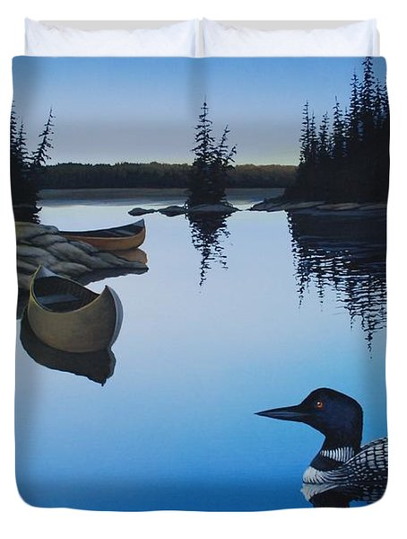 Evening Loons Duvet Cover