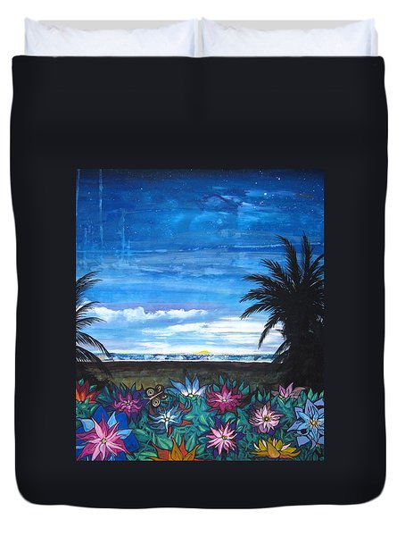 Tropical Evening Duvet Cover