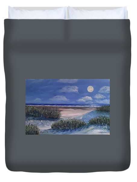 Evening Moon Duvet Cover