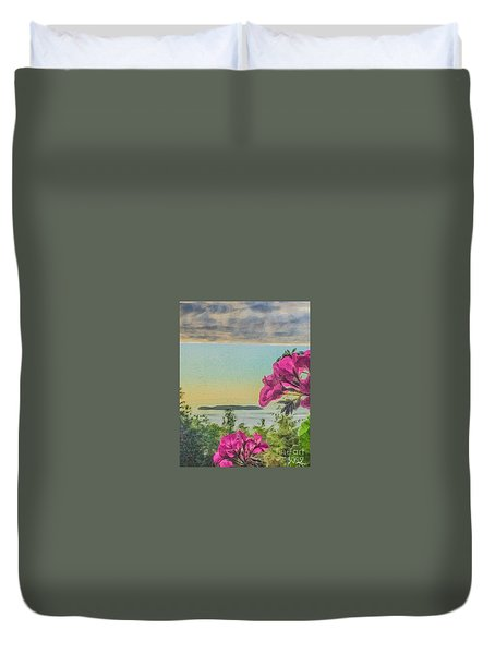 Islands Of The Salish Sea Duvet Cover
