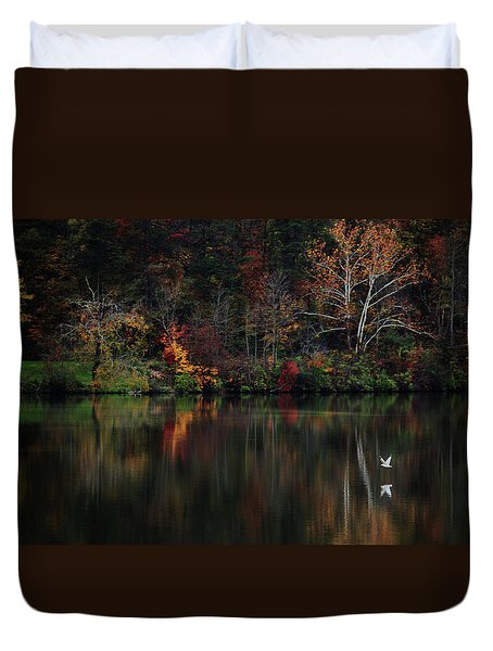Evening On The Lake Duvet Cover