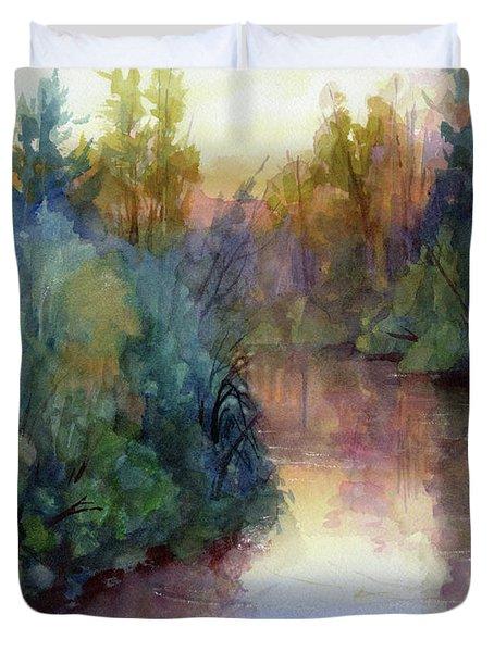Evening On The Willamette Duvet Cover