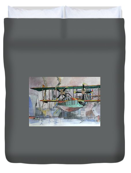 Evening Patrol Duvet Cover by Ray Agius