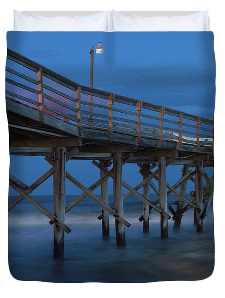 Evening Pier Duvet Cover