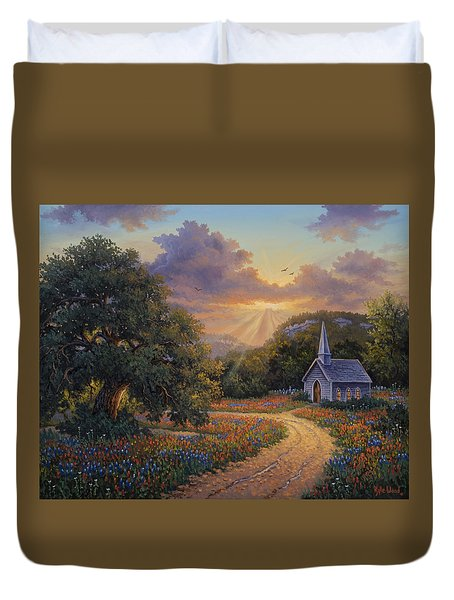 Evening Praise Duvet Cover