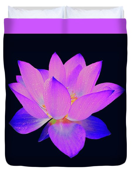 Evening Purple Lotus  Duvet Cover