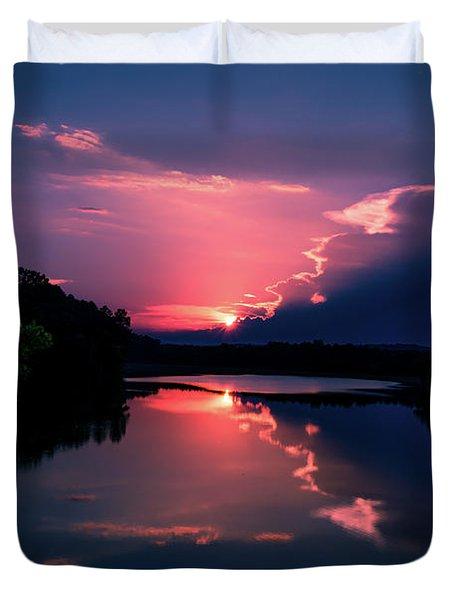 Evening Reflection Duvet Cover