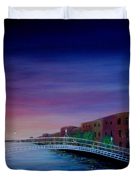 Evening Reflections Dublin  Duvet Cover