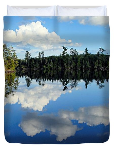 Evening Reflections On Spoon Lake Duvet Cover