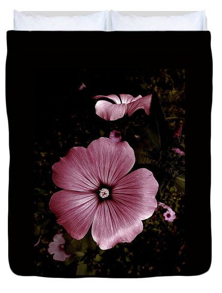 Evening Rose Mallow Duvet Cover