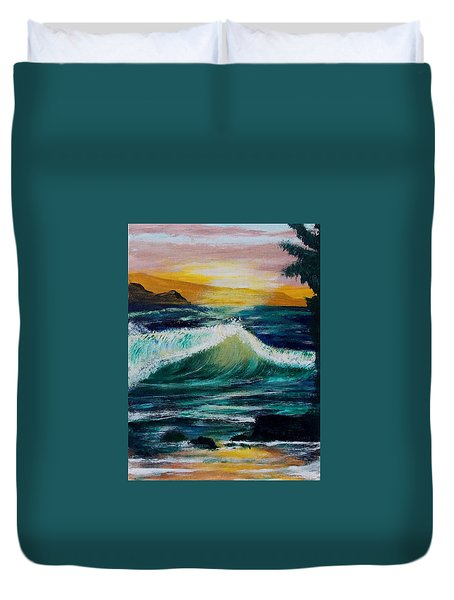 Evening Seascape 1 Duvet Cover