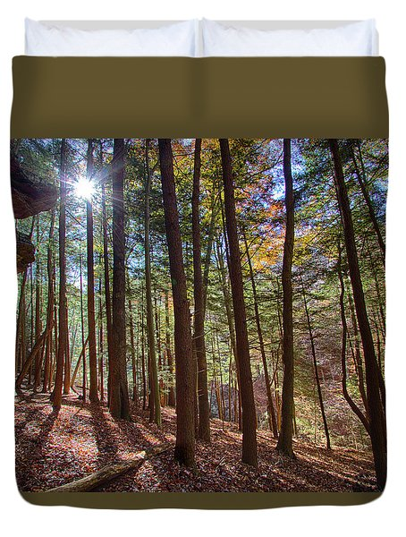 Evening Shadows Duvet Cover by Haren Images- Kriss Haren