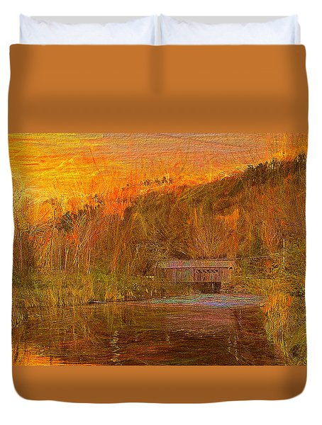 Evening Shadows II Duvet Cover