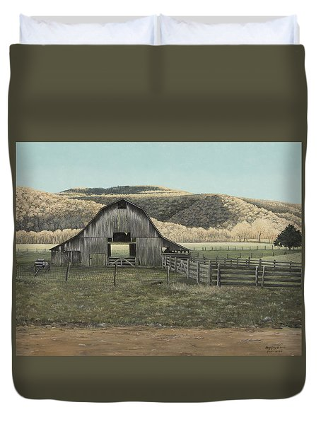 Evening Shadows In Boxley Valley Duvet Cover by Mary Ann King