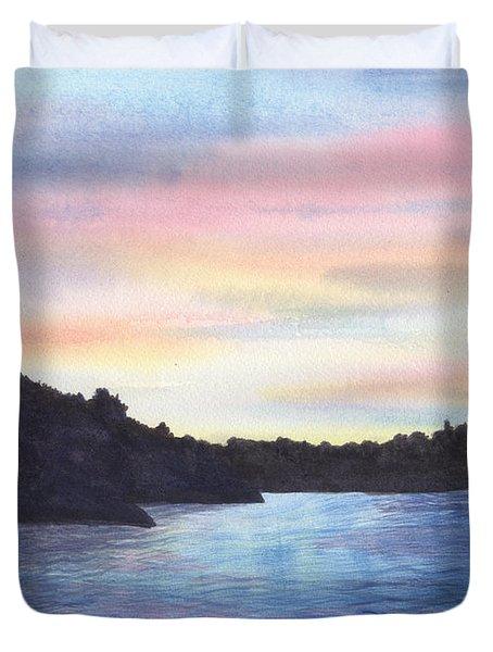 Evening Silhouette Duvet Cover