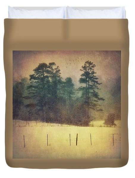 Evening Snow Glow Duvet Cover