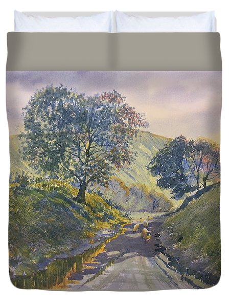 Evening Stroll In Millington Dale Duvet Cover