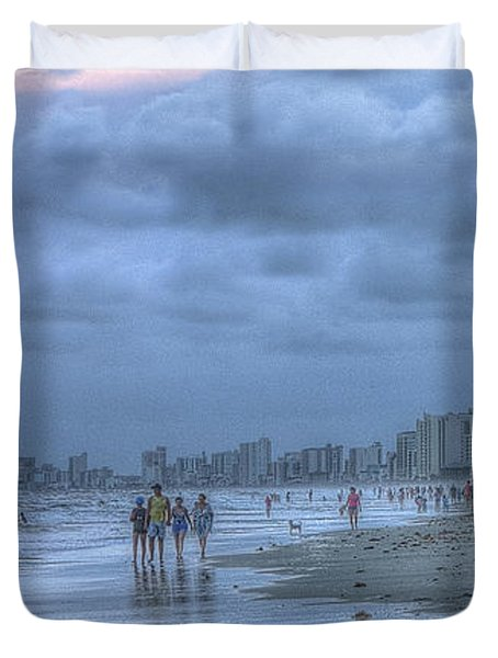 Evening Stroll Duvet Cover