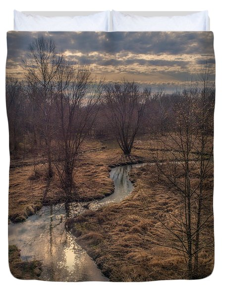 Evening Sun On The Creek Duvet Cover