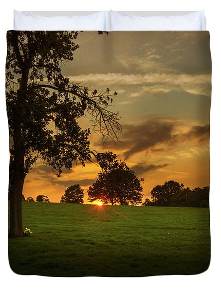 Evening Sun Over Brockwell Park Duvet Cover