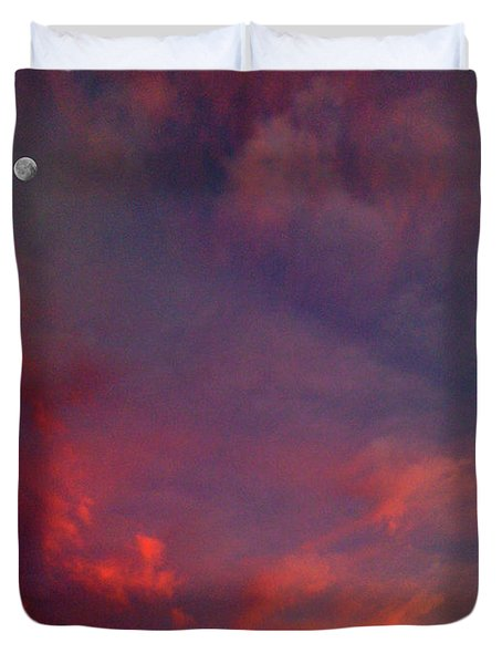 Evening Sunset Paints The Sky Duvet Cover