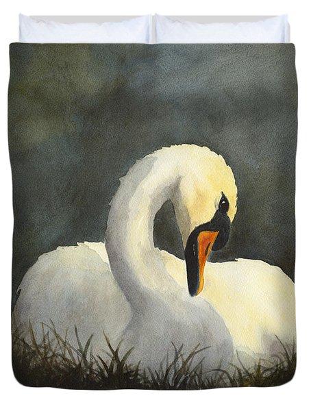 Evening Swan Duvet Cover