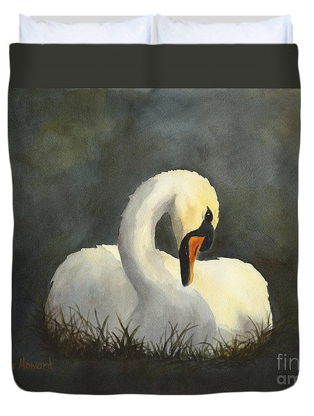 Evening Swan Duvet Cover