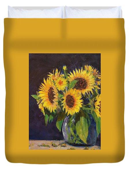 Evening Table Sun Flowers Duvet Cover