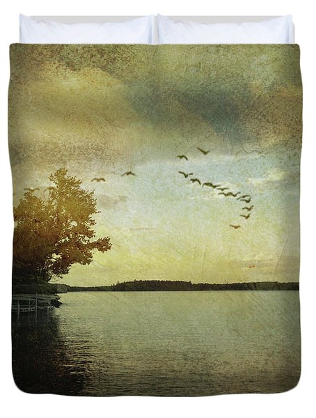 Evening, The Lake Duvet Cover