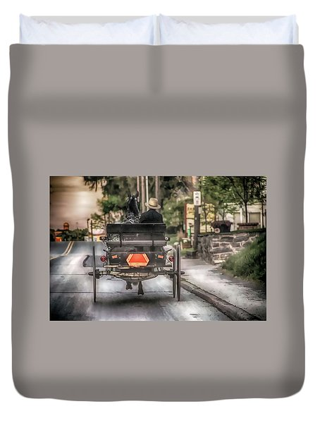 Evening Traveler Duvet Cover