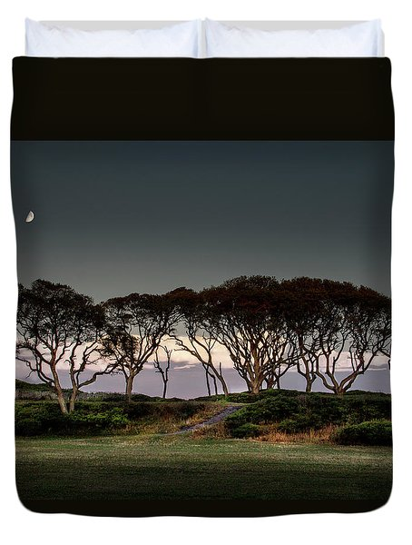 Dusk At Fort Fisher Duvet Cover