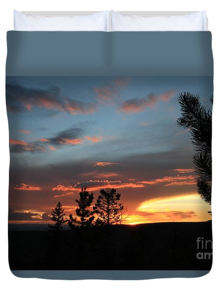 Evening View  Duvet Cover by Edward R Wisell
