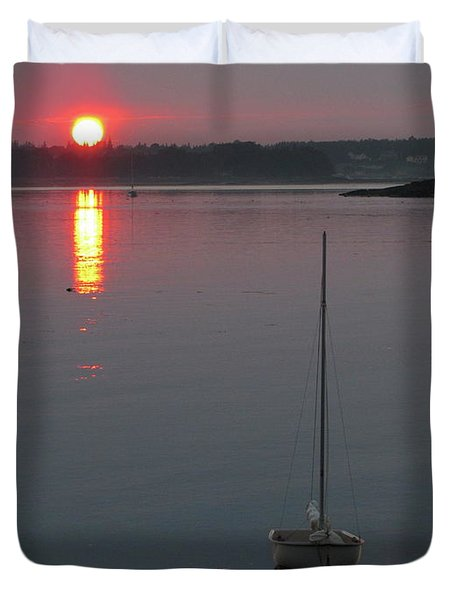 Evening View From The Dock Duvet Cover