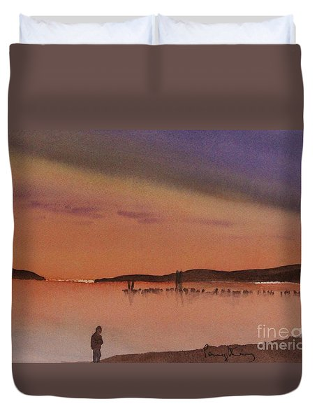 Evening Walk Duvet Cover