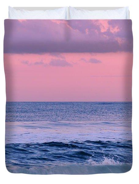 Evening Waves 2 - Jersey Shore Duvet Cover