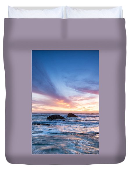 Evening Waves Duvet Cover