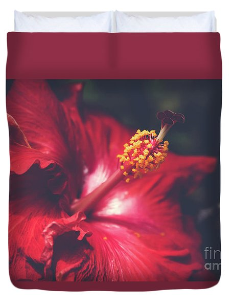 Duvet Cover featuring the photograph Evening Whispers by Sharon Mau