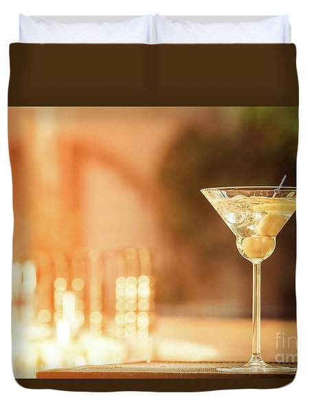 Evening With Martini Duvet Cover by Ekaterina Molchanova