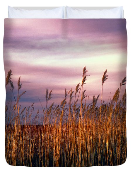 Evening's Candles Duvet Cover