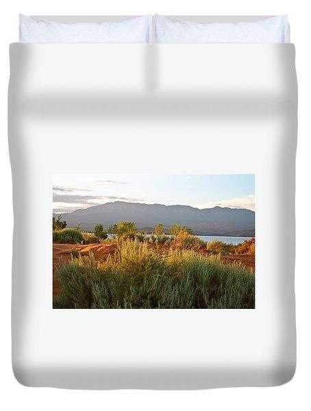 Evenings Light On The Red Sands Duvet Cover