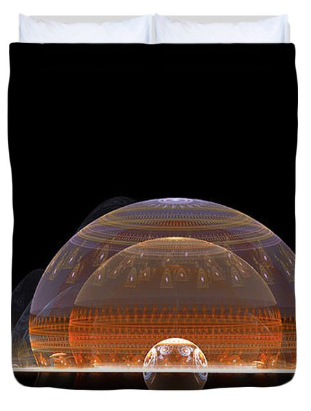 Duvet Cover featuring the digital art Event Horizon by Richard Ortolano