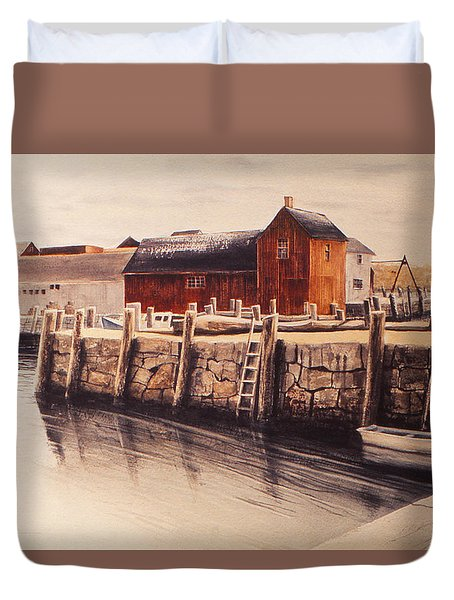 Ever Been To Rockport? Duvet Cover