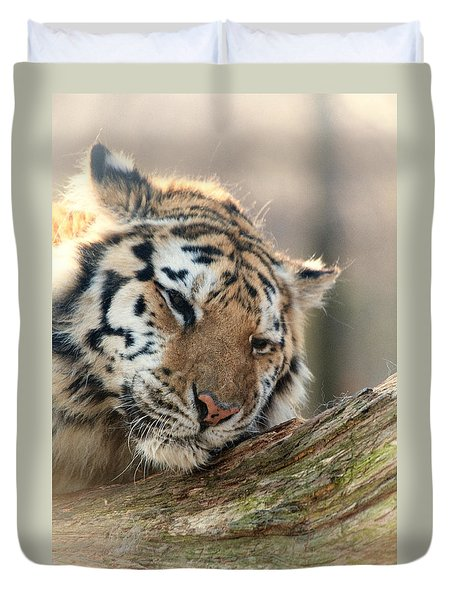 Ever So Gently Duvet Cover by Karol Livote