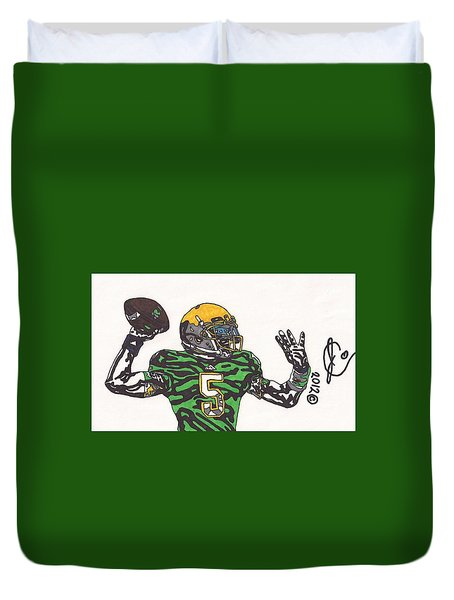 Everett Golson 1 Duvet Cover by Jeremiah Colley