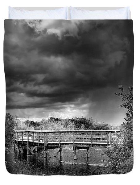 Everglades 0823bw Duvet Cover