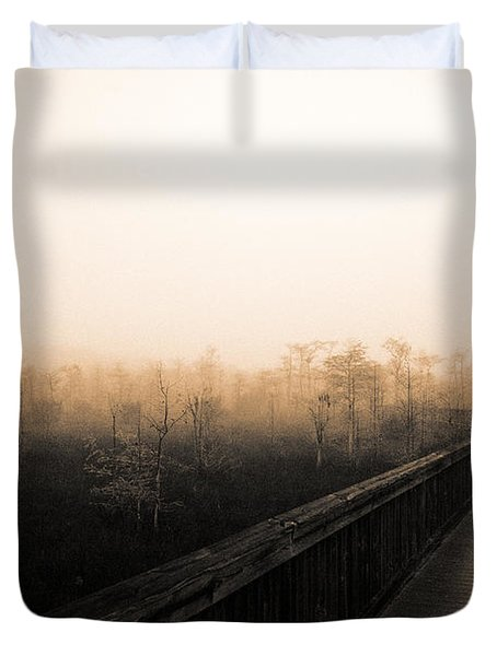 Everglades Boardwalk Duvet Cover