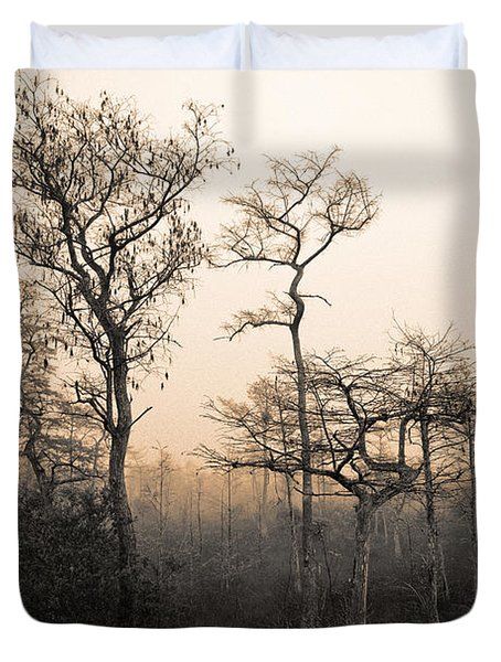 Everglades Cypress Stand Duvet Cover