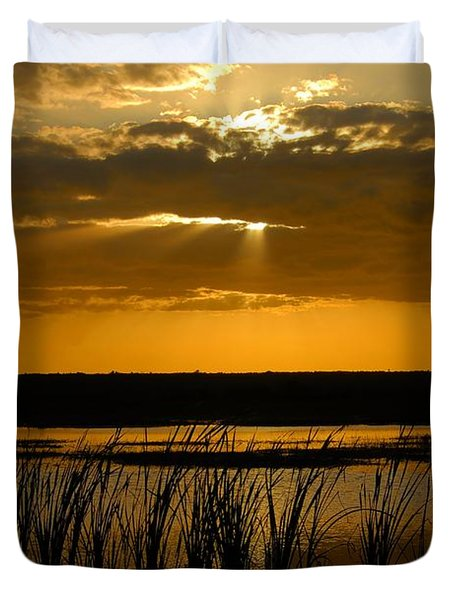 Everglades Evening Duvet Cover by David Lee Thompson